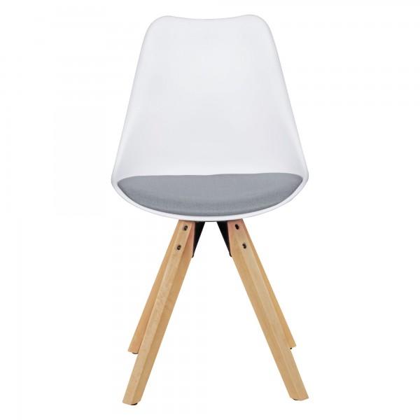 Design  Moderne Esszimmerstuehle mit edlem Kunstlederbezug Sitzschale mit fest verbundenem Sitzpolster Vier massive Standbeine als Kontrast zum weichen Sitzschalenbezug Abmessungen   Breite: 49 cm Hoehe: 87 cm Tiefe: 52 cm Sitzhoehe: 51 cm  Sitzflaec