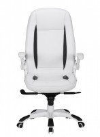 Design  Bequemer Chefsessel im sportlichen Design Extra hohe Rueckenlehne Klappbare und verstellbare Armlehnen Stufenlose Sitzhoeheneinstellung mittels...