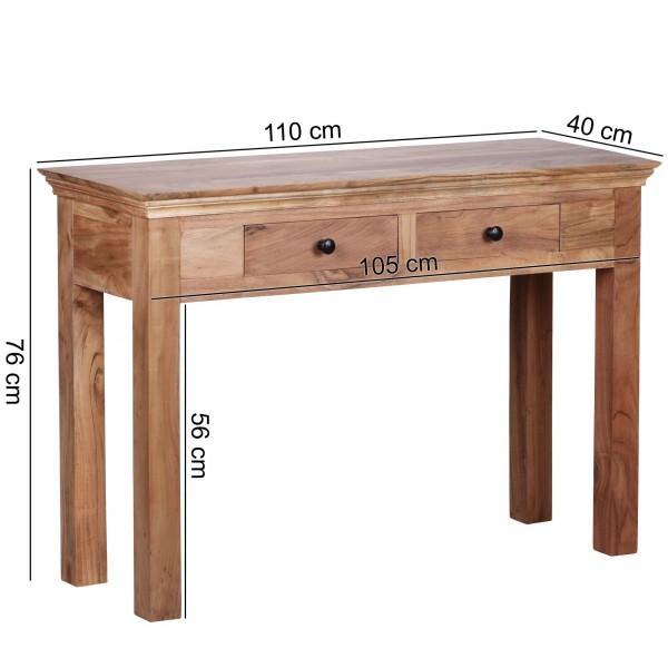 Wofuer geeignet? Durch die Hoehe von 76 cm ist die Konsole sowohl als Esstisch, als auch als Schreibtisch fuer die kleine Arbeitsecke verwendbar. Die Tiefe von 40 cm macht das Produkt sehr platzsparend und flexibel.   FSC® zertifizierte Ware: Bei de