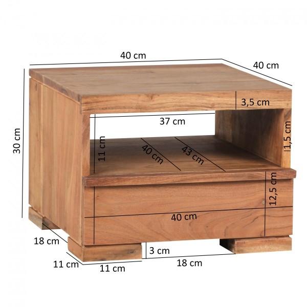 Wofuer geeignet? Ideale Ablagemoeglichkeit neben dem Bett durch eine Ablageflaeche und eine Schublade.   FSC® zertifizierte Ware: Bei dem Material handelt es sich um FSC® zertifizierte Ware aus verantwortungsvollen Quellen. Es wird besonderen Wert