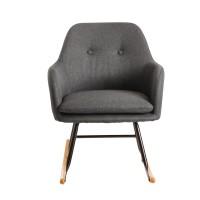 Design  Gemuetlicher Schaukelstuhl im skandinavischen Design Extra weiche Sitzschale fuer gemuetliche Stunden Wippfunktion aufgrund der gebogenen Holzbeine...