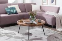 Design  Charmanter Couchtisch im angesagten Industrial-Stil Runde Tischplatte zur Ablage von diversen Utensilien Fester Stand dank der widerstandsfaehigen...