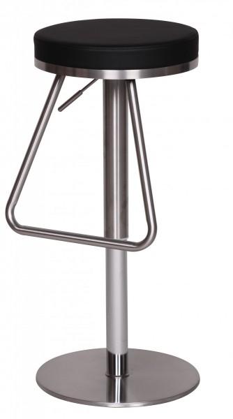 Hocker ist hoehenverstellbar: Die Sitzhoehe laesst sich von 54 bis 79 cm verstellen. Somit koennen Sie den Hocker individuell auf Ihre Koerpergroesse einstellen. Die Fussablage &amp  die Sitzflaeche bleiben immer im gleichen Verhaeltnis, da diese mit