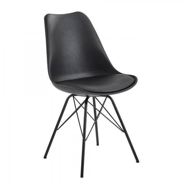 Design  Moderne Esszimmerstuehle in skandinavischem Design Sitzschale mit fest verbundenem Sitzpolster Vier robuste Standbeine als Kontrast zum weichen Sitzflaechenbezug Abmessungen   Breite: 48 cm Hoehe: 86 cm Tiefe: 58 cm Sitzhoehe: 45 cm Sitzflaec