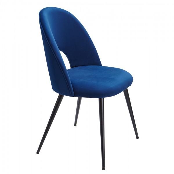 Design  Moderne Esszimmerstuehle in skandinavischem Design Sitzflaeche mit fest verbundenem Sitzpolster Vier robuste Standbeine als Kontrast zum weichen Samtbezug Abmessungen   Breite: 52 cm Hoehe: 84 cm Tiefe: 54 cm Sitzhoehe: 47,5 cm Sitzflaeche (B