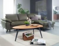 Design  Massiver Couchtisch in modernem Design Tischplatte in aussergewoehnlicher Nierenform  Fester Stand dank der stabilen Metallbeine Abmessungen  Breite:...
