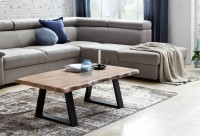 Design  Modernes Design Einzigartige Maserung Rechteckige Form Abmessungen  Breite: ca. 115 cm Tiefe: ca. 60 cm Hoehe: ca. 40 cm Tischplattenstaerke: ca. 4...
