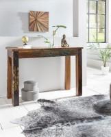 Design  Hochwertiger Konsolentisch im Shabby-Chic-Design Grosse, rechteckige Tischplatte zur Ablage von diversen Utensilien Fester Stand dank der massiven...