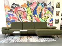 Sofa Sydney Olive Luxus-Webstoff/Flock 325 x175 cm