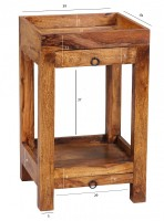 Wofuer geeignet? Mit einer Breite und Tiefe von 39,5 cm ist der Tisch individuell einsetzbar und zudem platzsparend - Ideal als Abstellmoeglichkeit in Ecken...