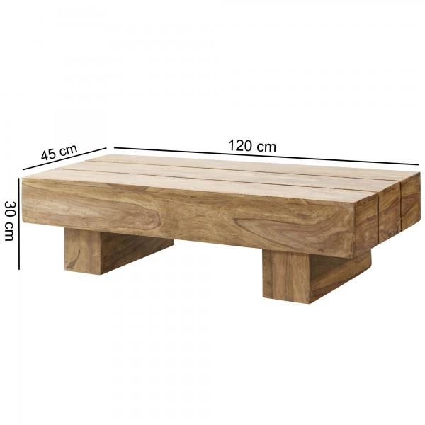 Sie sind auf der Suche nach einem modernen und praktischem Couchtisch fuer Ihr zuhause? Massivholz Couchtische von WOHNLING.   Wofuer geeignet? Mit einer Breite von 120 cm und einer Tiefe von 45 cm passt er perfekt in Ihr Wohnzimmer und bietet genug