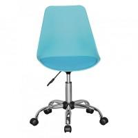 Design  Sitzflaeche mit Leder Optik bezogen Stuhl mit verchromten Fusskreuz Sitzschale in passender Farbe zur Sitzflaeche Farbe  Sitzflaeche &amp...
