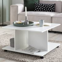 Design  Stilvolle und elegante Gestaltung - Hingucker fuer Ihre Wohnraeume Couchtisch mit mehreren Ablagemoeglichkeiten Mobiler Wohnzimmertisch im modernen,...