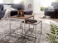 Wofuer geeignet? Das 2er Set kann individuell im Wohnzimmer platziert werden - Der kleine Tisch laesst sich optimal unter den grossen Tisch schieben und ist...