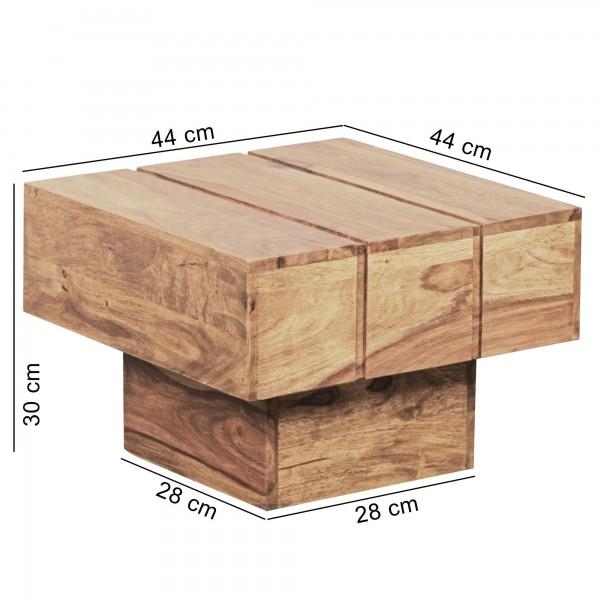Wofuer geeignet? Der Beistelltisch ist durch die quadratische Form ideal als Tischchen oder Ablage in der Ecke geeignet   FSC® zertifizierte Ware: Bei dem Material handelt es sich um FSC® zertifizierte Ware aus verantwortungsvollen Quellen. Es wird