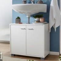 Design  Moderner Waschbeckenunterschrank im zeitlosen Design Elegante Griffe und Fuesse in Aluminium Optik Unkompliziertes Design mit klaren Formen...