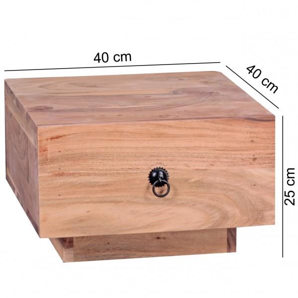 Sie sind auf der Suche nach einem modernen und praktischen Nachttisch fuer Ihr Schlafzimmer? Massivholz-Nachtkonsole von WOHNLING.   Wofuer geeignet? Ideale Ablagemoeglichkeit durch eine grosse Ablageflaeche und eine Schublade neben dem Bett.   FSC®