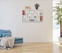 Design  Modernes Wandregal mit klaren Linien Verschieden grosse und geformte Regalfaecher Extravagantes Design - Highlight fuer jedes Zimmer Abmessungen...