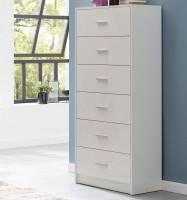 Design  Sideboard im modernen und zeitlosen Design Kommode mit sechs Schubladen Silberfarbene Griffe an den Schubladen Abmessungen  Breite: 60 cm  Hoehe: 130...