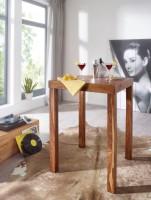 Design  Rustikaler Bartisch mit 4 stabilen Standbeinen Einzigartige Maserung macht den Tisch zu einem Blickfang Grosse Ablage zum Abstellen von Getraenken...
