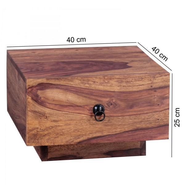 Sie sind auf der Suche nach einem modernen und praktischem Nachttisch fuer Ihr Schlafzimmer? Massivholz-Nachtkonsole von WOHNLING.   Wofuer geeignet? Ideale Ablagemoeglichkeit durch eine grosse Ablageflaeche und eine Schublade neben dem Bett.   FSC®