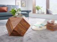 Design  Kunstvoller Couchtisch in Form eines Diamanten Attraktiver Sofatisch mit einzigartiger Maserung Absoluter Blickfang im Wohnzimmer Abmessungen...