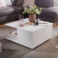Design  Wohnzimmertisch im modernen Look Couchtisch mit zwei Schubladen und zwei Faechern Rollen an der Unterseite des Tisches Abmessungen  Breite: 70 cm...