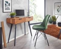 Design  Moderner Konsolentisch mit angesagtem Materialmix aus Holz und Metall Geraeumige Ablageflaeche bietet viel Platz fuer diverse Utensilien...