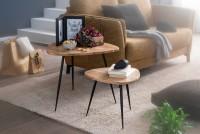 Design  Zwei elegante Beistelltische im modernen Design Die schwarzen Metallbeine betonen den angesagten Industrial Style Tischplatten der kleinen Sofatische...