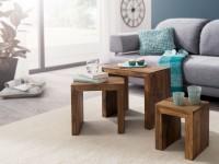 Wofuer geeignet? Das 3er Set kann individuell im Wohnzimmer platziert werden - Die kleineren Tische lassen sich jeweils unter den groesseren Tisch schieben...