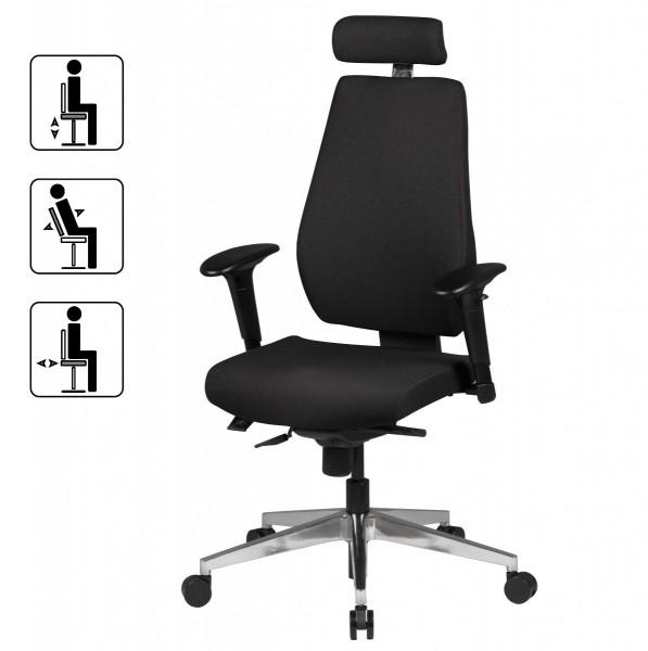 Design  Ergonomisch geformte Rueckenlehne Sitz mit ueppiger Polsterung und speziell ausgeformter Sitzflaeche Abmessungen  Hoehe: 111 - 141 cm Breite: 60 cm Sitztiefe &amp  -breite: 47 cm Sitzhoehe: 43 - 55 cm Armlehnenhoehe: 62 - 82 cm (gemessen vom