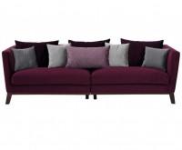 Big Sofa Kim Aubergine Samtvelours 244 x 84 cm