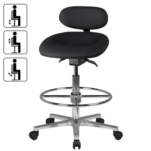 Design  Modernes und zeitloses Design Hoehenverstellbare Sitzflaeche und Rueckenlehne bietet optimalen Sitzkomfort Sitz aus PU-Formschaum mit speziell ausgeformter Sitzflaeche zur Beckenentlastung und Foerderung eines angenehmen Sitzens Formschoenes