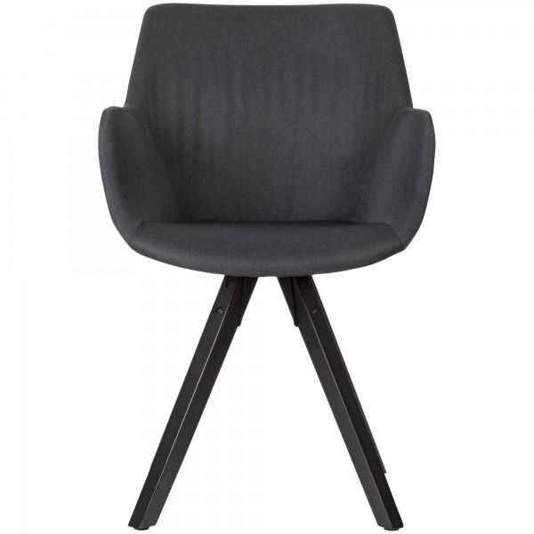 Design  Moderne Esszimmerstuehle mit schoenem Stoffbezug Die Sitzschalen sind mit praktischen Armlehnen ausgestattet Vier massive Standbeine als Kontrast zum weichen Stoff Abmessungen   Breite: 54 cm Hoehe: 85 cm Tiefe: 58 cm Sitzhoehe: 50 cm  Sitzbr