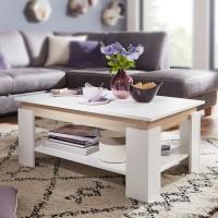 Design  Sofatisch im modernen Design Grosser Wohnzimmertisch mit klarer Linienfuehrung Geraeumiges Ablagefach und grosszuegige Tischplatte Abmessungen...