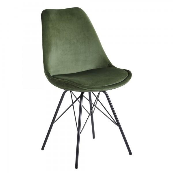 Design  Moderne Esszimmerstuehle in skandinavischem Design Sitzschale mit fest verbundenem Sitzpolster Vier robuste Standbeine als Kontrast zum weichen Samtbezug Abmessungen   Breite: 48 cm Hoehe: 86 cm Tiefe: 58 cm Sitzhoehe: 45 cm Sitzflaeche (BxT)