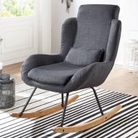 Design  Gemuetlicher Schaukelstuhl in modernem Design Extra weiche Sitzschale fuer gemuetliche Stunden Wippfunktion aufgrund der gebogenen Holzbeine...