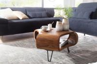 Design  Couchtisch im modern interpretierten Landhaus-Stil Rechteckige Tischplatte zur Ablage von diversen Utensilien Grosses Ablagefach fuer mehr Stauraum...
