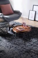 Design  Massiver Beistelltisch im angesagten Industrial-Design Materialmix aus naturbelassenem Holz und robustem Metall Grosse Tischplatte mit stabilem...