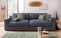 Big Sofa Fuero Grau Strukturstoff/Weich 274 cm