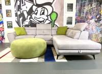 Sofa Sergio Hellgrau Webvelours 270 x 230 cm