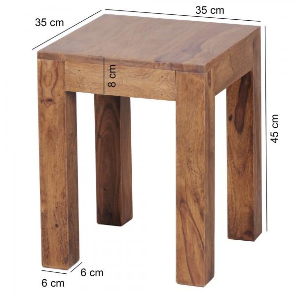 Wofuer geeignet? Mit einer Breite und Tiefe von 35 cm ist der Tisch individuell einsetzbar und zudem platzsparend - Ideal als Abstellmoeglichkeit in Ecken platzierbar   FSC® zertifizierte Ware: Bei dem Material handelt es sich um FSC® zertifizierte