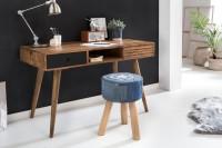 Design  Schreibtisch im angesagten Retro-Look Grosszuegige Tischplatte fuer angenehmes Arbeiten am Tisch Genuegend Stauraum durch zwei Schubladen und einem...
