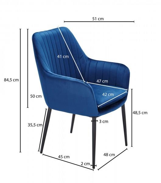 Design  Moderner Esszimmerstuhl in skandinavischem Design Sitzschale mit fest verbundenem Sitzpolster Vier robuste Standbeine als Kontrast zum weichen Samtbezug Abmessungen   Breite: 62 cm Hoehe: 84,5 cm Tiefe: 51 cm Sitzhoehe: 48,5 cm Sitzflaeche (B