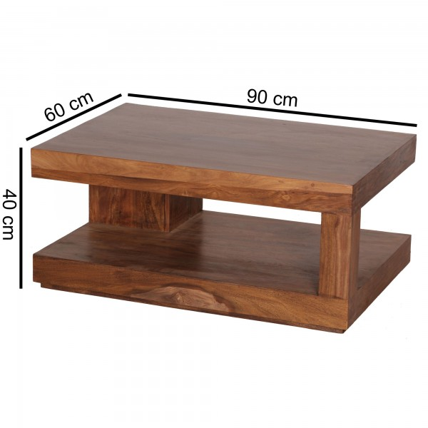 Sie sind auf der Suche nach einem modernen und praktischem Couchtisch fuer Ihr zuhause? Massivholz Couchtische von WOHNLING.   Wofuer geeignet? Mit einer Breite von 90 cm und einer Tiefe von 60 cm passt er perfekt ins Wohnzimmer und bietet ausreichen