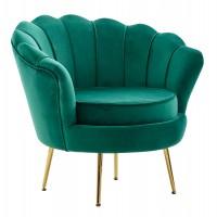 Design  Moderner Sessel im angesagten Glamour-Look Sitzschale mit fest verbundenem Sitzpolster Rueckenlehne in aussergewoehnlicher Muschelform Vier robuste...