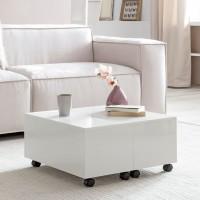 Design  Moderner Couchtisch im zeitlosen Design Sofatisch mit integrierter Schublade Tisch in quadratischer Form mit schoenen Hochglanzfronten Abmessungen...