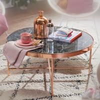 Design  Reizender Couchtisch im modernen Stil Runde Tischplatte auf filigranem Metallgestell Abmessungen  Breite: 82,5 cm Hoehe: 40 cm Tiefe: 82,5 cm...