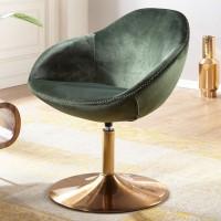 Design  Gemuetlicher Loungesessel in modernem Design Attraktive Farbkombination aus Gruen und Gold Extra weiche Sitzschale fuer gemuetliche Stunden Fester...