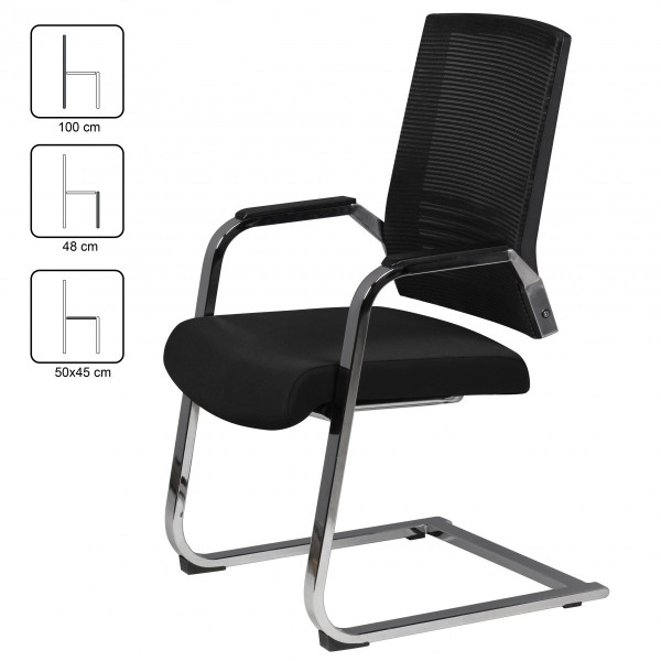 Design  Ergonomisch geformte Netzurueckenlehne, auf Anatomie des Koerpers angepasst Die Schwingung des Stuhles foerdert ein bequemes und entspanntes Sitzen Sitz mit ueppiger Polsterung aus PU-Formschaum Armlehnen mit Softpadauflagen Stilvolle Netzrue